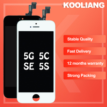 цена на 100% Tested Grade AAA Top quality Touch Screen For Apple iPhone 5s LCD Digitizer, For iPhone 5s LCD Display Assembly