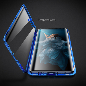 Image 5 - Case For Huawei Nova 5T Case Magnetic Metal 360 Dual Tempered Glass Shockproof Back Hard Bumper Cover For Huawei Honor 20 Case