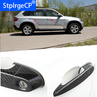 for BMW x5 E70 xDrive 30i 48i 35d 35i 50i 40d M50d 2008 2013 Accessories 100% real carbon fiber Auto outer door handle cover