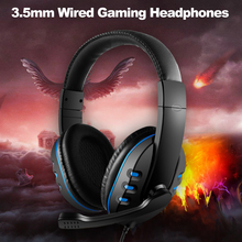 3.5mm Wired Gaming Headset Over Ear Game Headphones Noise Canceling Earphone with Microphone