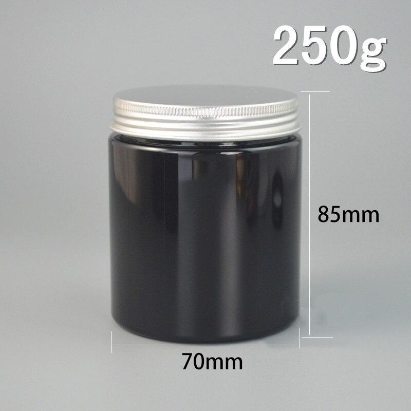 250g preto frasco de plastico recipiente 01