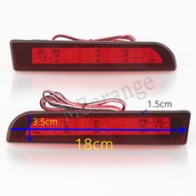 цена на LED Red Rear Bumper Reflector Light For Mitsubishi Lancer 2008 2009 2010 2011 2012 2013-14 Tail Stop Brake lights Warning lamp