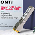 ONTi Gigabit RJ45 SFP модуль 1000 Мбит/с SFP медь RJ45 SFP модуль приемопередатчика совместимый для Cisco/Mikrotik Ethernet коммутатор
