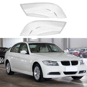 Car Lamp Shade Transparent Halogen Headlamp Shade Pc Lamp Shade Cover For BMW E90 318 320i 325i 330i Car Headlight Lens image