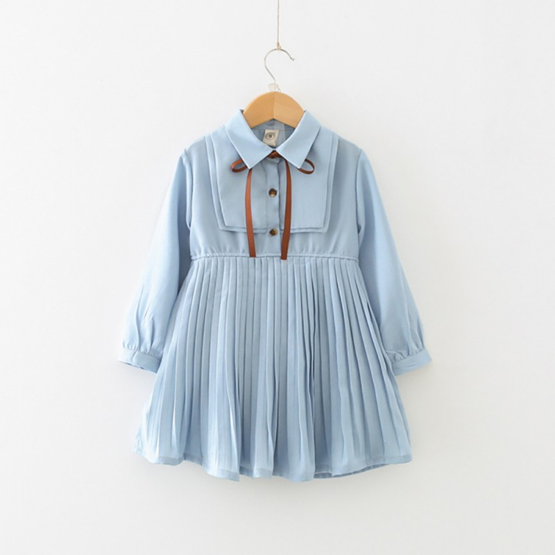 Baby Clothes Autumn Casual Baby Girls Long Sleeve Pleated Dress Skirts Kids  Toddler Princess Sundress|Dresses| - AliExpress
