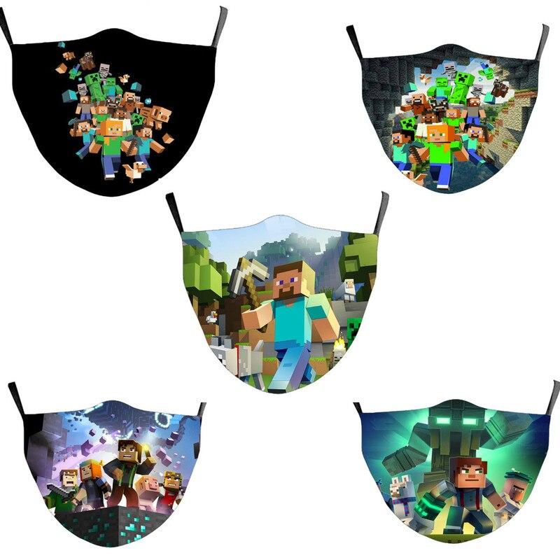 Многоразовая Пылезащитная моющаяся маска с фильтром для лица из хлопка для взрослых и детей майнсайтов, аниме маска для езды на велосипеде, ...