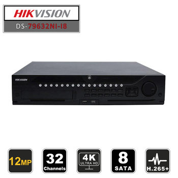 Hikvision Professional 32 Channel CCTV System DS-9632NI-I8 Embedded 4K 32 CH NVR Up to 12 Megapixels Resolution 8 SATA 2 HDMI цена 2017