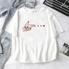 Women T-Shirts 2019 Summer New Cute Animal Girls Printed Tops Tee