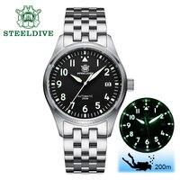 Relógio de mergulho mecânico 200m  relógio masculino de aço nh35 automático  relógio de pulso  safira  automático  vento