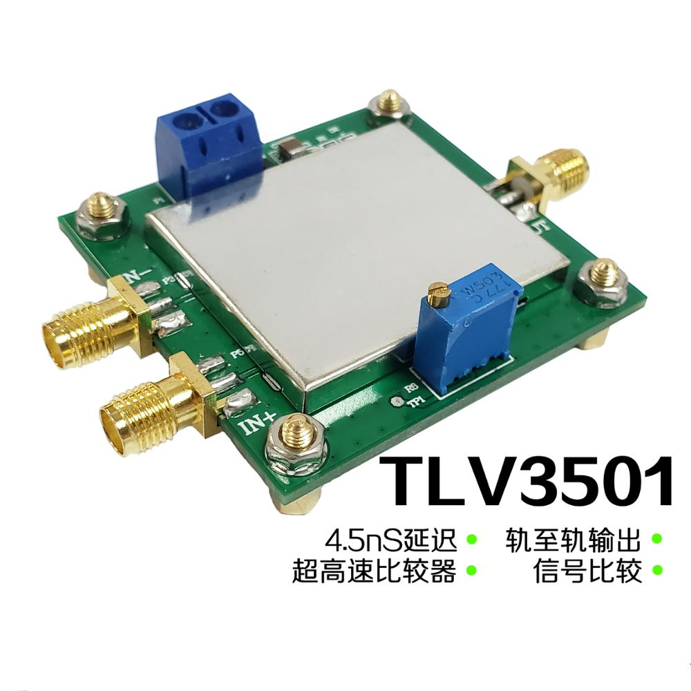 Dawupine TLV3501 Ultra High Speed Voltage Comparator Module Compare With The Opposite Side Rail-to-rail Sinusoidal Square Wave
