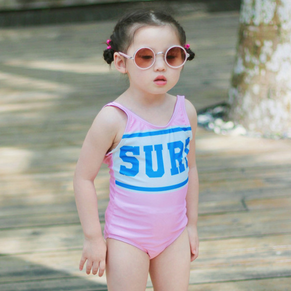 KID'S Swimwear GIRL'S New Style One-piece Swimming Suit Little Princess Baby Triangle Girls Holiday Hot Springs Bow Swimwear