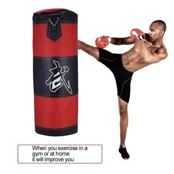 80cm Boxing Punching Bag Boxing Sandbags Striking Drop Hollow Empty Sand Bag Punch Target Training Fitness MMA Hook Hanging Kick