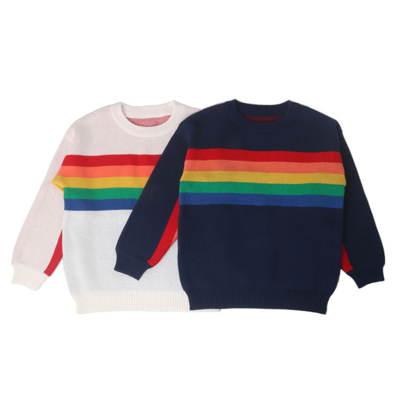 1 -6Yrs Baby Girls Sweater Autumn Winter Baby Boy Sweater Boys Girls Stripe Children Clothes Children Clothing 1