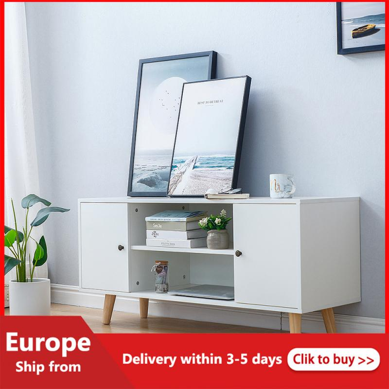 1PC TV Cabinet Nordic Style Modern Light Luxury Coffee Table TV Cabinet Combination Living Room Simple Small Apartment Floor HWC