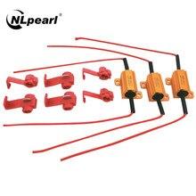 Nlpearl 2x50w led decodificação resistor h1 h3 h7 h11 9005 9006 carga resistor cancelador de erros decodificador canbus livre fiação cancelador