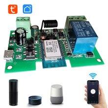 Tuya Smart Life DC5V 12V 24V 32V Wifi Switch Intelligent Module inching mode RF433 Remote Control Work with Alexa Google Home