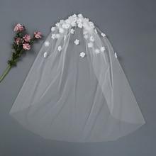TRiXY V46 wedding veil ivory white bride veil one-Layer wedding veils with comb bridal accessories Flower Wedding dress veil