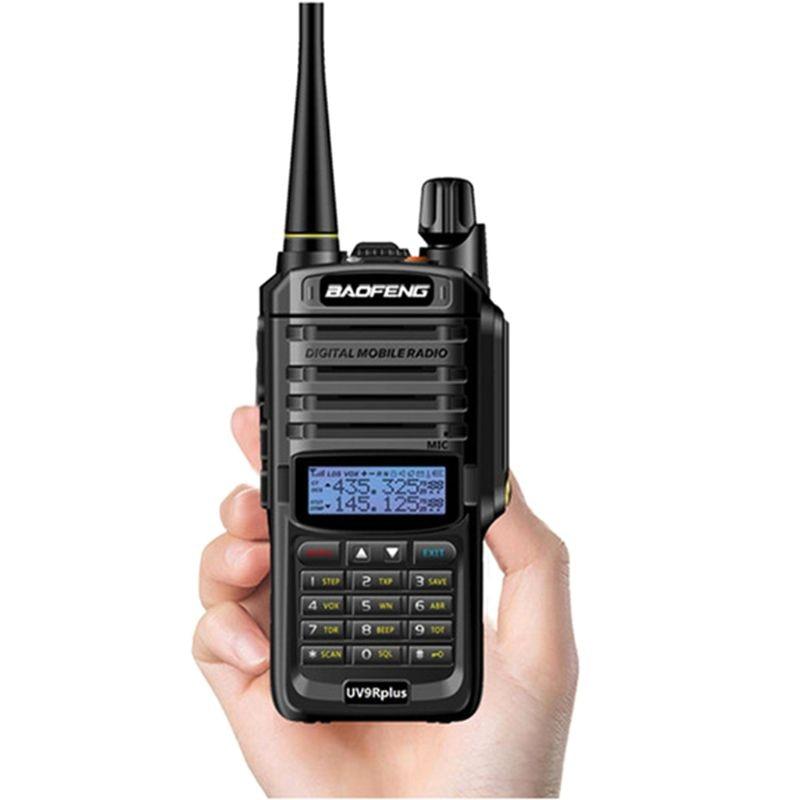 2019 nova atualização de alta potência baofeng UV-9R plus walkie talkie à prova dwaterproof água 10w para rádio em dois sentidos longa distância 10km 4800mah uv 9r mais