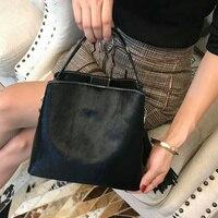 Horse Hair tassel Woman Handbag Fashion Bucket luxury handbag women bag designer Women Leather Shoulder Fur Barrel Bag Winter