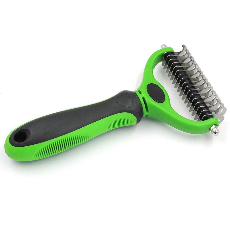 Удаление волос Cfor Dogs Cat Detangler меховая отделка уход за щеткой инструмент для матированных длинных волос кудрявый питомец