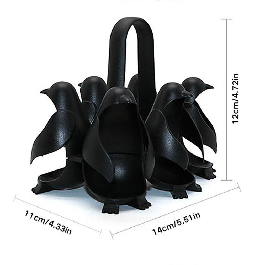 Держатель для яиц в виде пингвина подходит для приготовления мягких или твердых вареных яиц удобен для приготовления и хранения холодильников