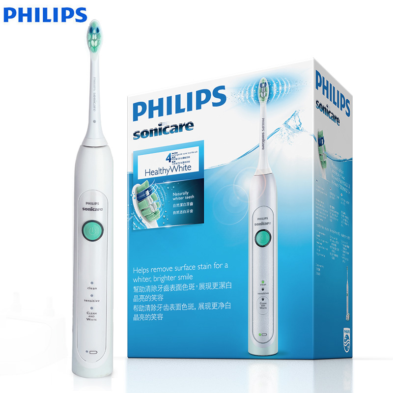 PHILIPS HX6730/02 Sonic Electrict Toothbrush with Ergonomic Handle Non-Slip Waterproof Rechargeable for Adult Deep Clean Mode image