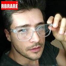 RBRARE-Montura De Gafas Retro para hombre y mujer, Gafas De protección contra luz azul, para ordenador, ópticas transparentes