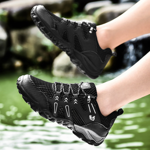 Image 4 - חדש מכירה לוהטת סופר אור נעליים יומיומיות גברים קיץ לנשימה ספורט נעלי ריצה רך נוח Mesh סניקרס שחור הנעלה 47