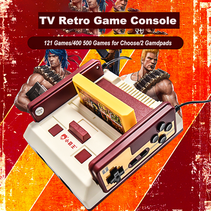2017 New Subor D99 Video Game Console Classic Family TV video games consoles player with 400 IN1+ 500 IN1 games cards for choose image