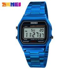 SKMEI Blue Men's Watch Vintage Watch Electronic Digital Display Retro Style Watc