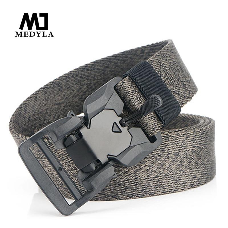 MEDYLA New Magnetic Tactical Belt Stable Fast Release Buckle Military Belt 125cm Adjustable Sports Belt Sports Accessories