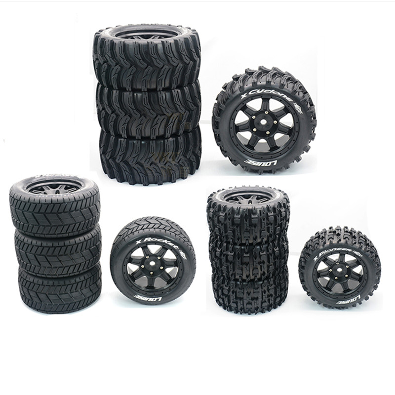 Waterproof Widened Highway Tires RC Monster Truck Rim Wheels For 1/5 TRAXXAS X-MAXX XMAXX Wheels Size 210MM*100MM RC Car Parts