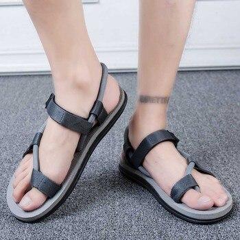 Sandalias de moda de los hombres 2020 Vintage estilo romano de playa...