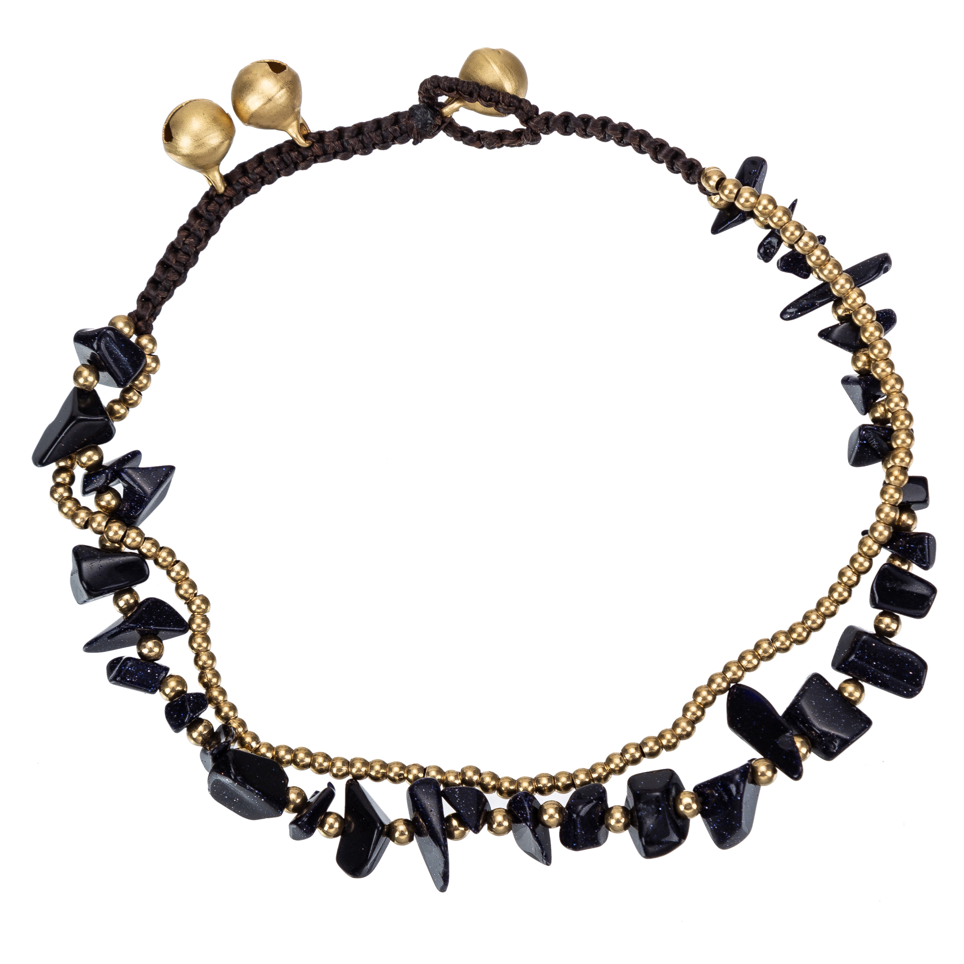 Vintage Natural Black Stones Link Chain Leg Anklets For Women Ankle Bracelet Woman Anklet Female Foot Jewelry