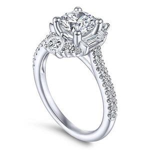 Image 4 - バゲ Ringen クラシック 100% 本物のシルバー 925 リングと 6 ミリメートルラウンド形状ジルコンリング結婚式婚約 Jewerly サイズ 6  10 卸売