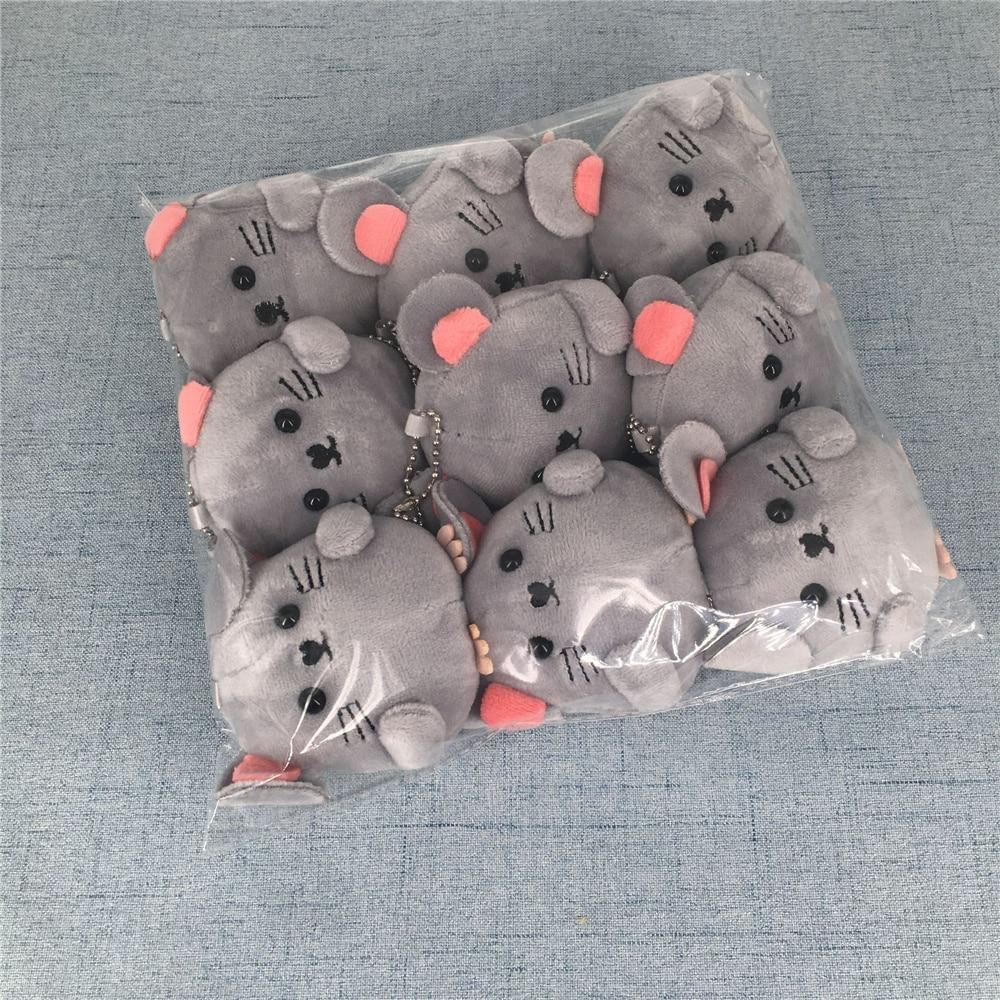 9 шт. кукла мышка, плюша, с нашивкой в виде мышки, подарок, Ключи Подвеска плюшевые игрушки