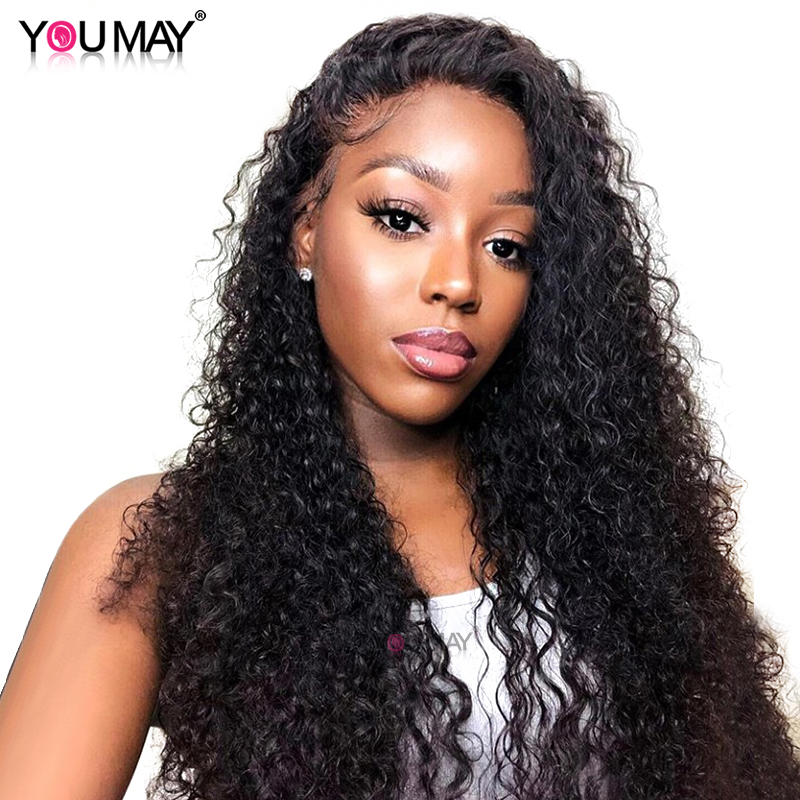 250% Density Brazilian Curly Human Hair Wigs 13X6 Lace Front Wigs For Women Pre Plucked Baby Hair Colored You May Remy Hair