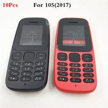 10 unids/lote nueva cobertura completa para Nokia 105 (2017) completa carcasa para teléfono móvil caso + teclado