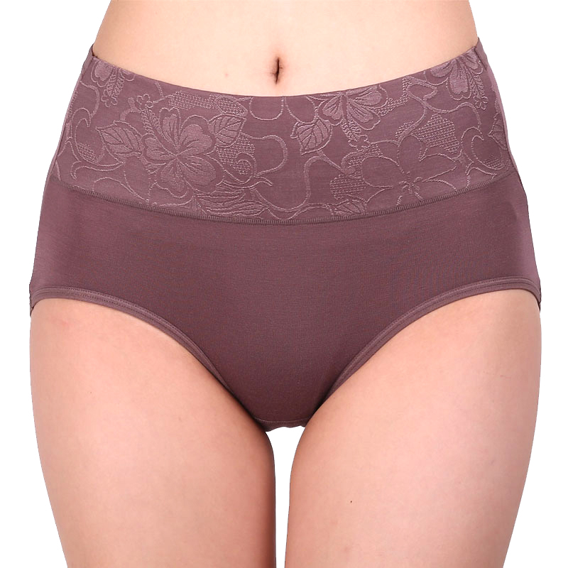 ZW90 Women Modal Panty Բարձր իրանի շնչառական եռանկյունաչափական շալվարներ Plus Size Իգական ներքնազգեստի մարմնի ձևավորման համառոտ նկարագրություններ M-XXXL