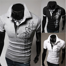 Men Polo Shirt Embroidered Pattern Fashion High Quality Cotton Short Sleeve Breathable Tops Tees