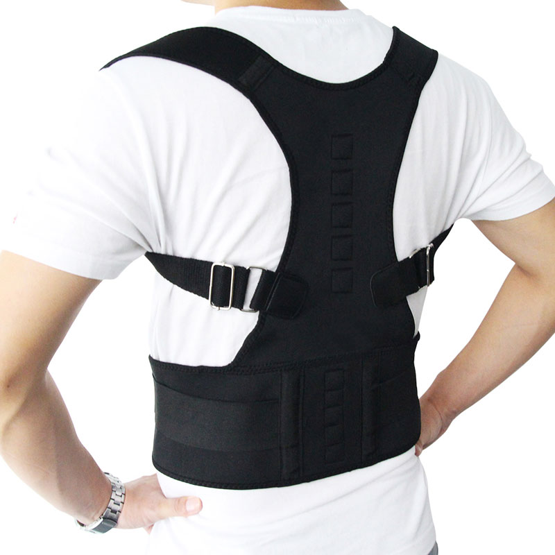 Adjustable Posture Belt to Pull Shoulder and Back for Correct Posture also Provides Central Back Support with Magnetic Contact  in Spine and Lumber Region 11