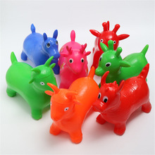 Bouncy-Horse-Toys Rides Animal Inflatable Kids on Child Deer Rubber Gift Jumping Random