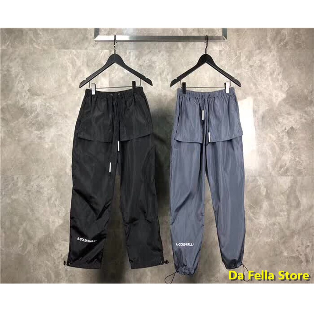 2020 A COLD WALL* Pants Men Women 1:1 High Quality A-COLD-WALL* Trousers Outside Pocket Jogger Pants Nylon ACW  High Street
