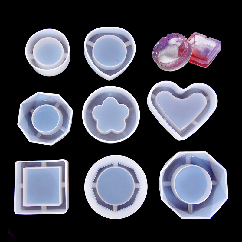 1PC Flower Heart Round Shape Silicone Molds Jewelry Mold Star Bear Key Chain Charm Jewelry Craft Tool