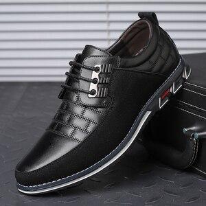 Image 1 - גודל גדול באיכות גבוהה נעליים יומיומיות גברים אופנה עסקי גברים נעליים יומיומיות מכירה לוהטת אביב לנשימה מזדמנים גברים נעליים שחור