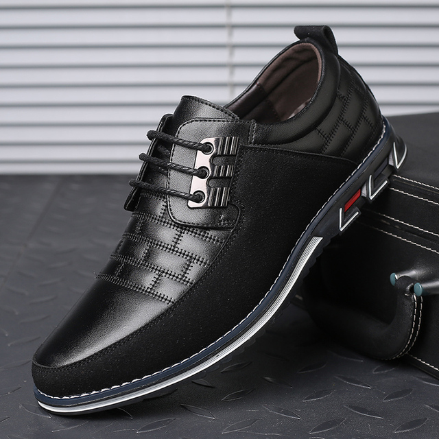 גודל גדול באיכות גבוהה נעליים יומיומיות גברים אופנה עסקי גברים נעליים יומיומיות מכירה לוהטת אביב לנשימה מזדמנים גברים נעליים שחור