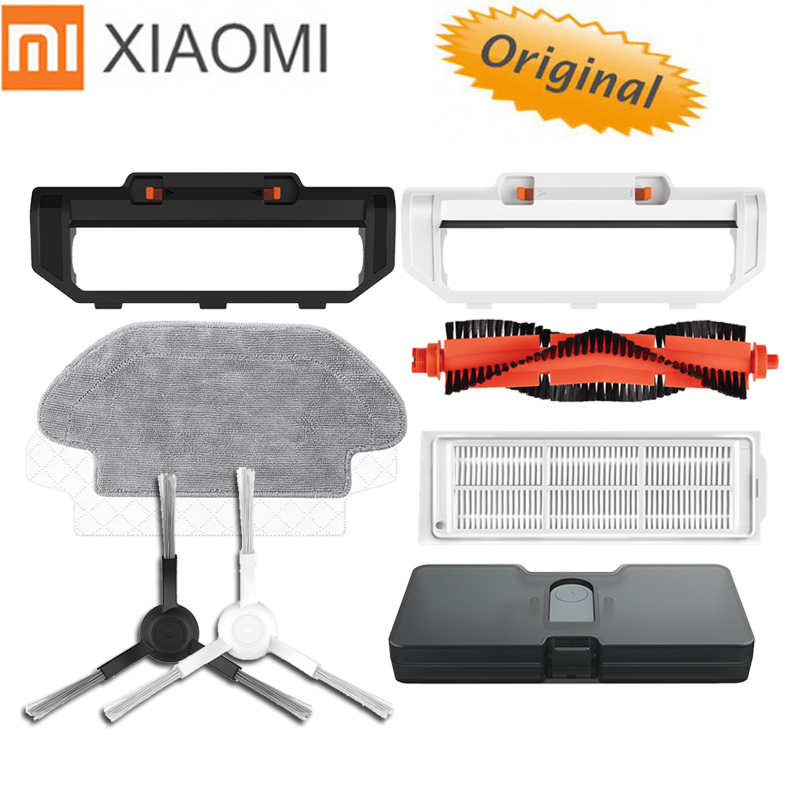Original XIAOMI MIJIA Sweeping Mopping Robot Vacuum Cleaner STYJ02YM Spare Part Side Brush HEPA Filter Main Brush Mop Water Tank