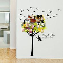 Фоторамка с изображением домика на дереве качели мультяшная