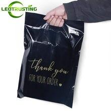 Sac enveloppes adhésives de remerciement, utilisation générale, noir et blanc, pour robe, pantalon, pull, pochettes portables
