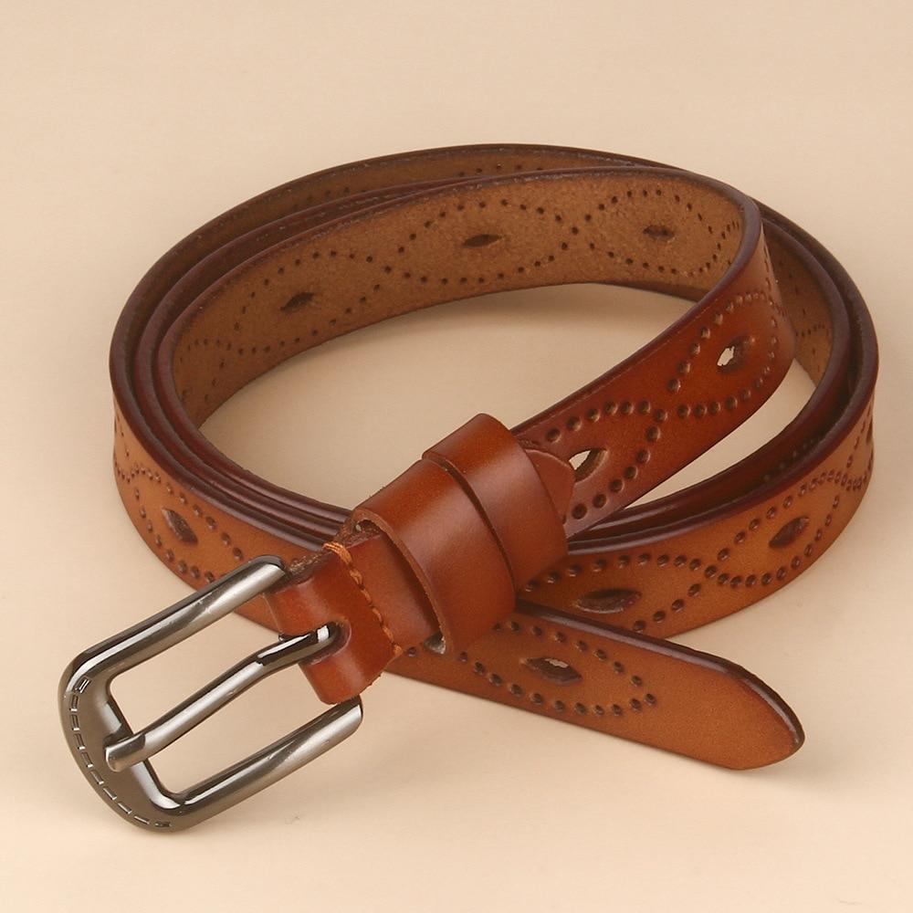 Genuine Leather Belts for Women Second Layer Cowskin Woman Belt Vintage Pin Buckle Strap Jeans Designer Belt Luxury